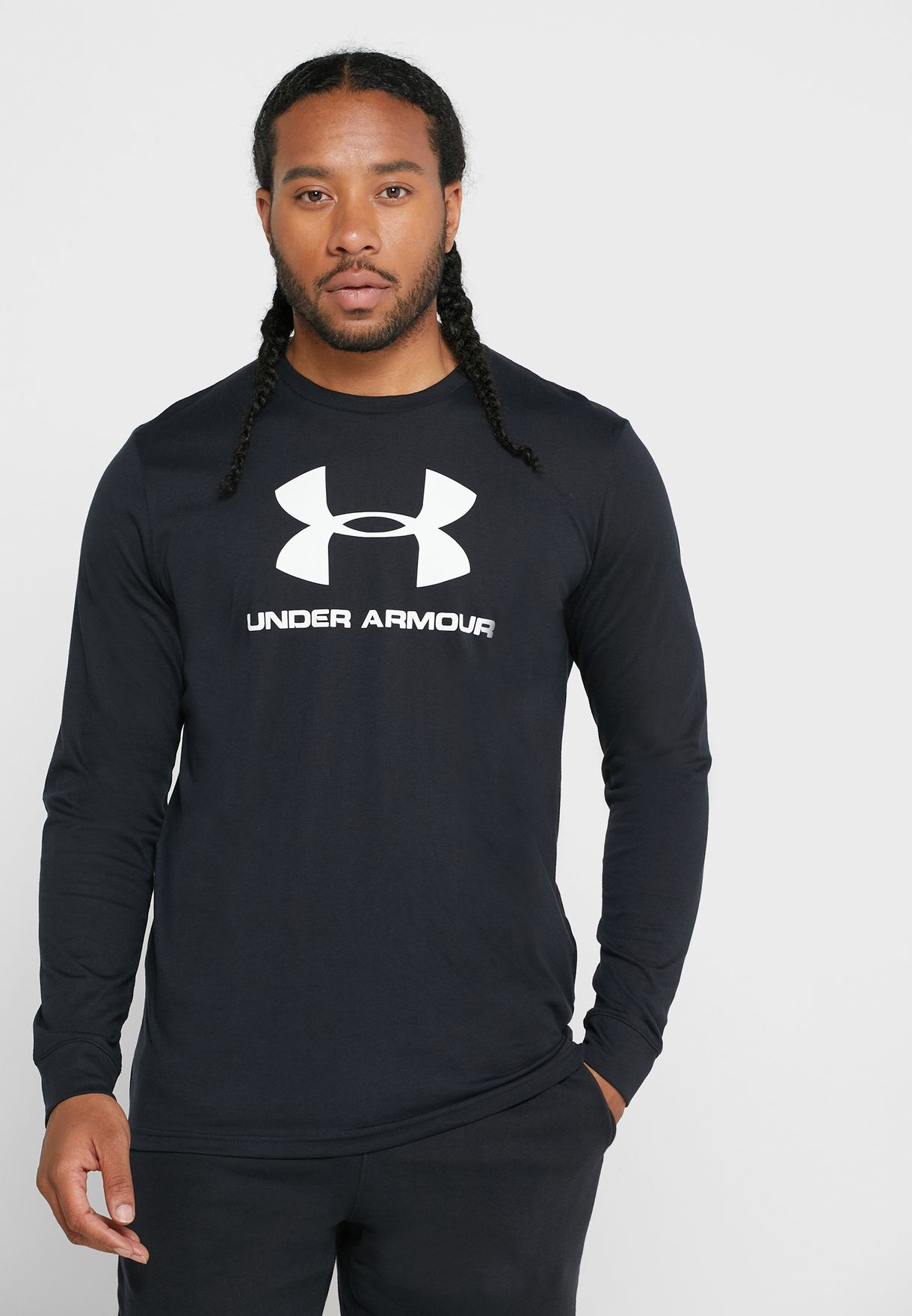 Mens Under Armour Sports long sleeve Top black