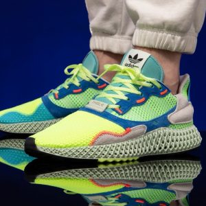 ADIDAS ZX 4000 4D Hi-Res Yellow / Linen Green / Easy Mint