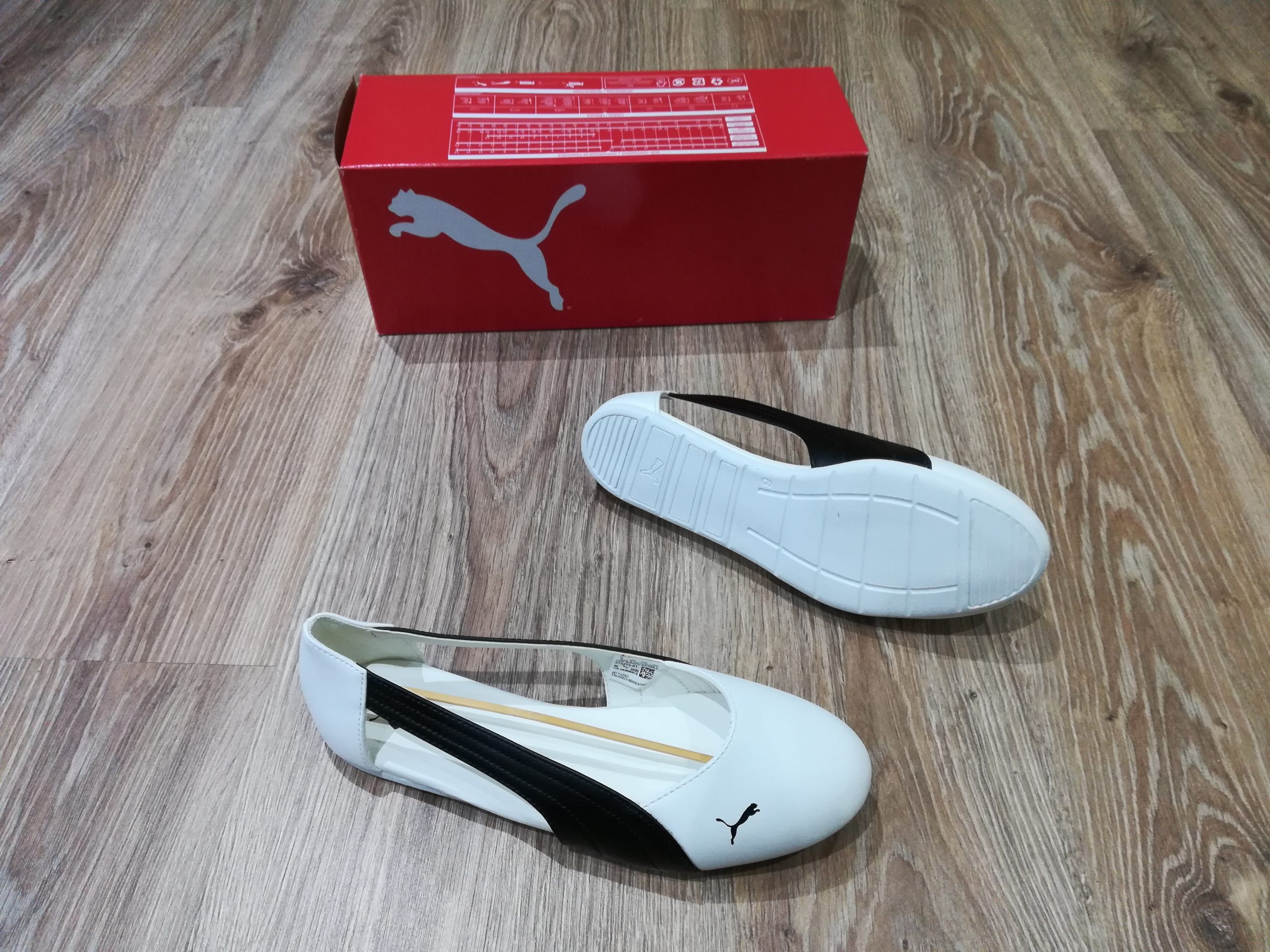 Puma basic Ballerina cut off pump white/black